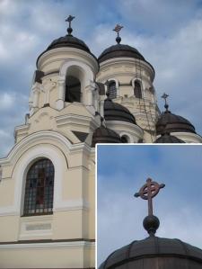 Crucea celtică pe mănăstirea Căpriana