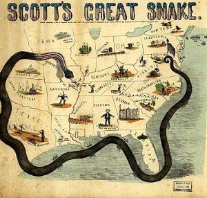 """""""Planul Anaconda"""" din perioada războiului civil din SUA (1861-1865)"""